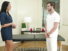 Fabulous big breasted MILF Reagan Foxx is fucked mish during massage