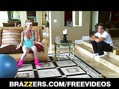 Brazzers -Horny big-tit yoga MILF Brandi Love takes big-dick