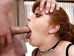 Cock full of cum chokes Penny Pax in brutal XXX scenes