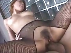 Cute Japanese Hottie Sakura Matsui Gives A Nice Footjob Then Get Some Cock DM720