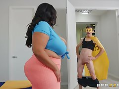 BBW Sofia Rose enjoys rough sex with their way horny boyfriend before a blowjob