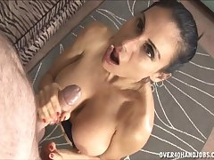 Heavy fake tits adult Sheila Marie is beyond everything their way knees stroking his sausage