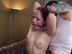Maci May spreads her legs be expeditious for a strong restaurant check while she screams