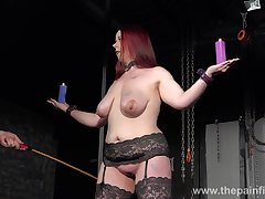 Chubby redhead has to tarry some kinky punishment in all directions the dungeon