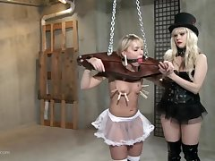 Strong BDSM femdom fro clamping together with rough ass fucking