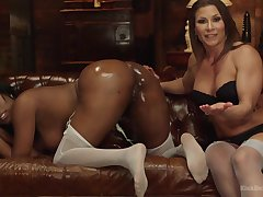 Interracial lesbian fuck is the favorite sex game be advisable for Lisa Tiffian