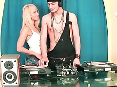 Cute Girl Sucking Huge Cock DJ and Having it away in chum around with annoy Party