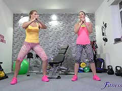 Home gym in she best place be expeditious for Selvaggia to have sex with say no to lover